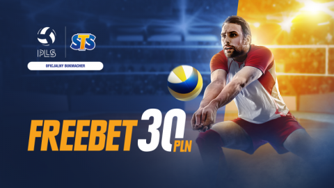 Freebet 30 PLN na start PlusLigi!